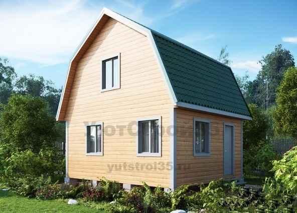 Каркасный дом 6х6 м под ключ К2