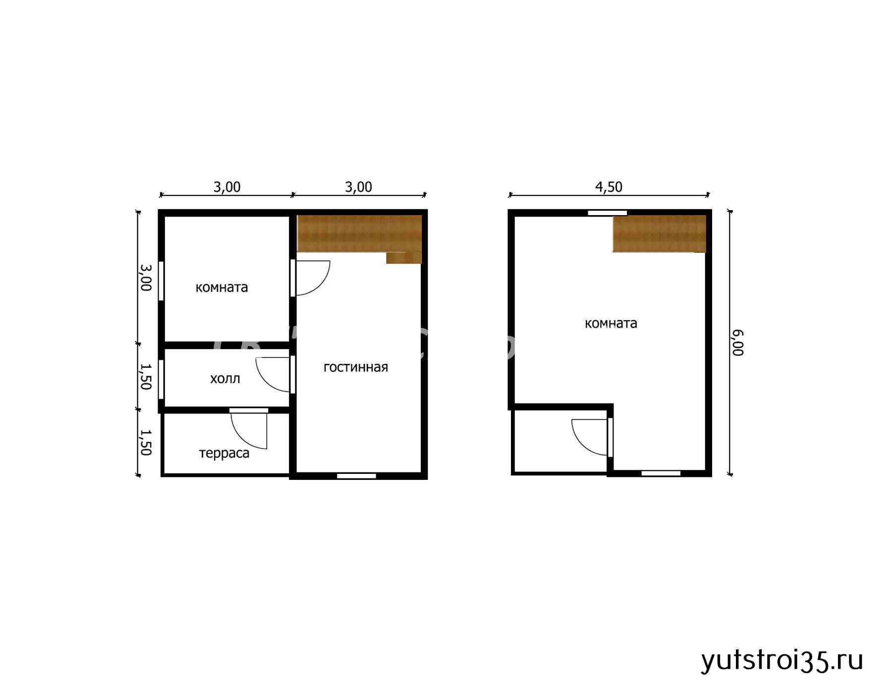 Каркасный дом 6х6 м под ключ К3