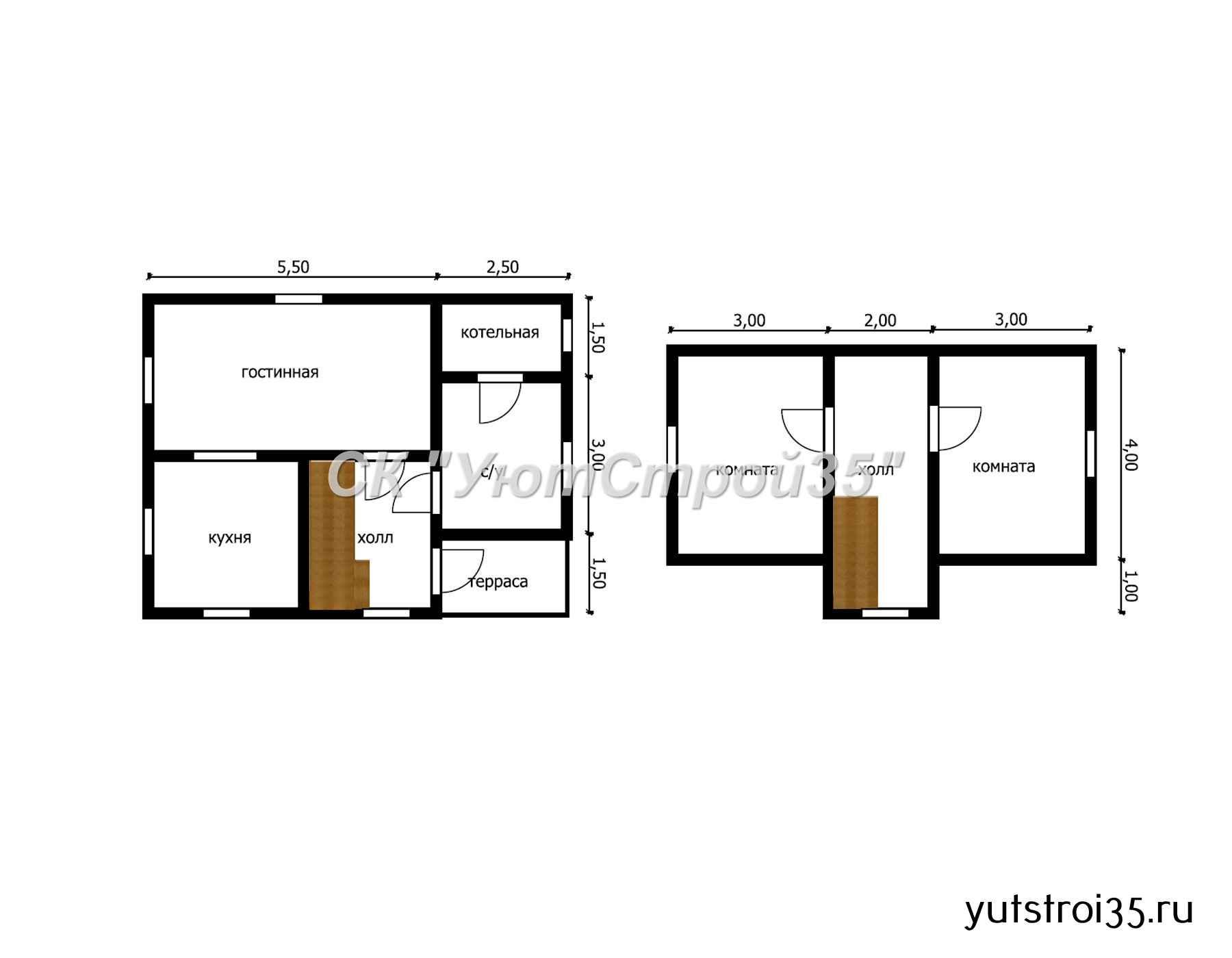 Каркасный дом 6х8 м под ключ К10