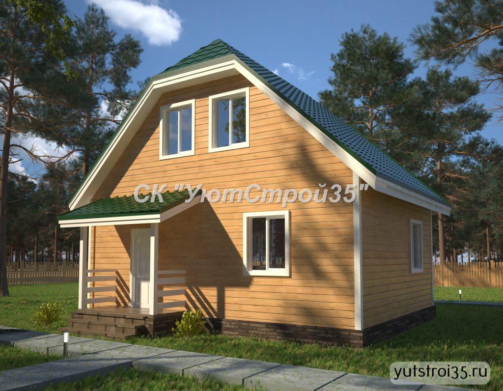 Каркасный дом 6х8 м под ключ К12