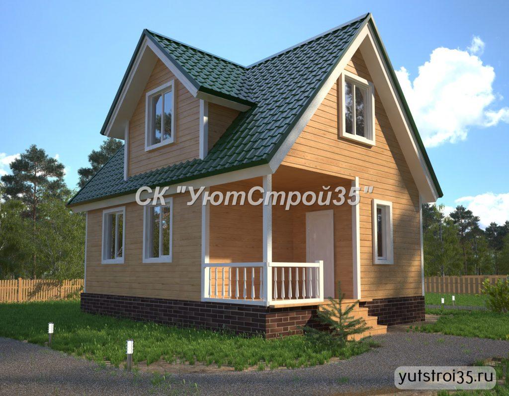 Каркасный дом 6х8 м под ключ К13