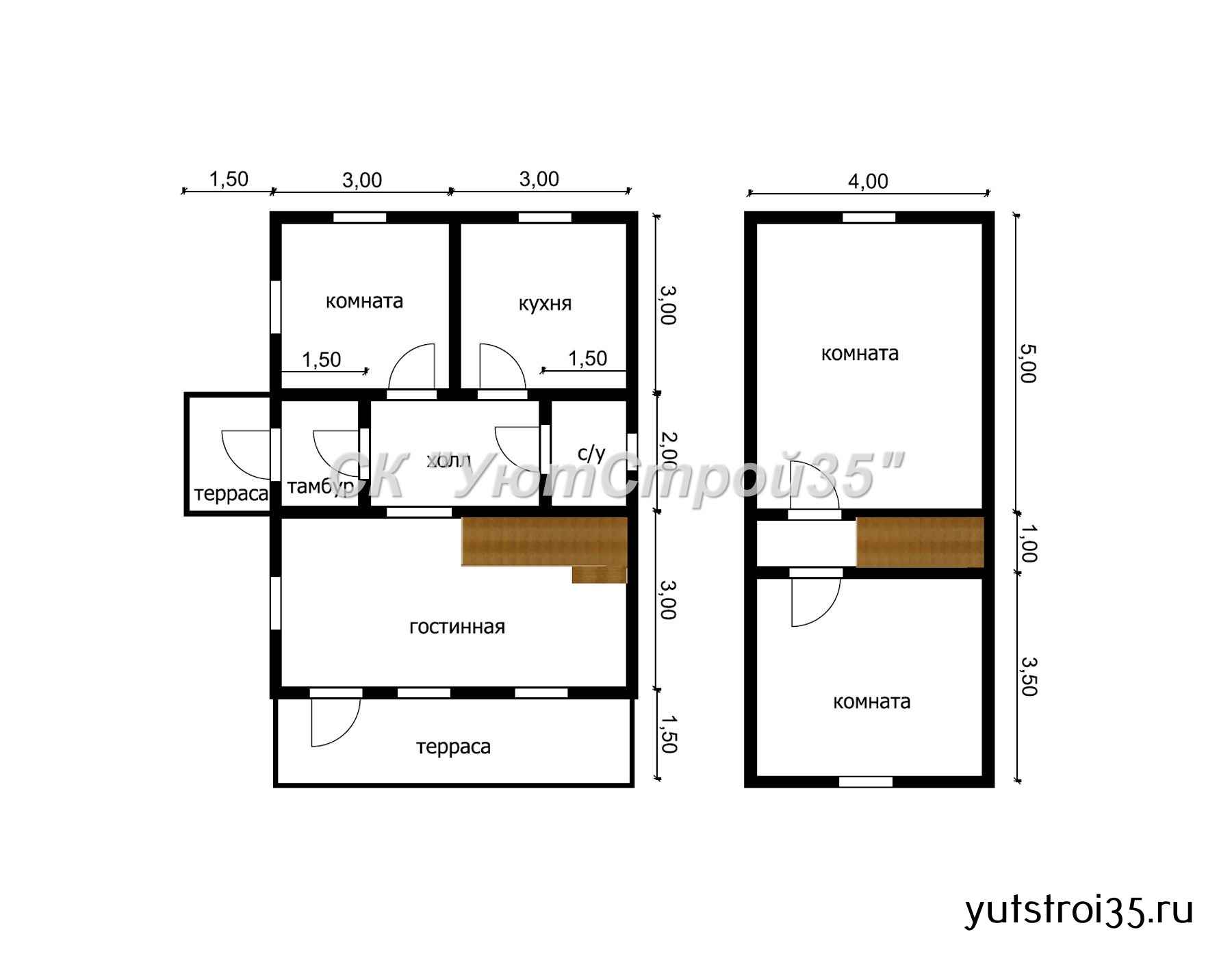 Какасный дом 6х9.5 м под ключ К15