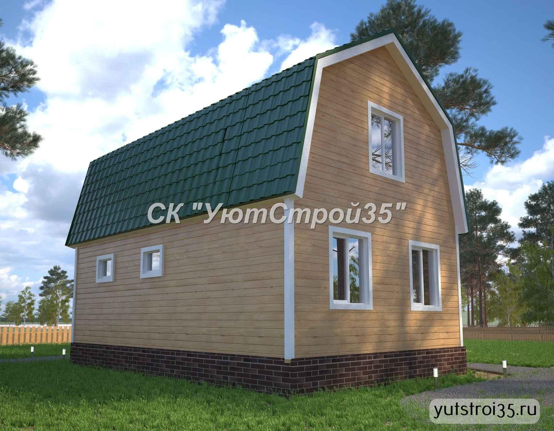 Каркасный дом 6х9 м под ключ К16