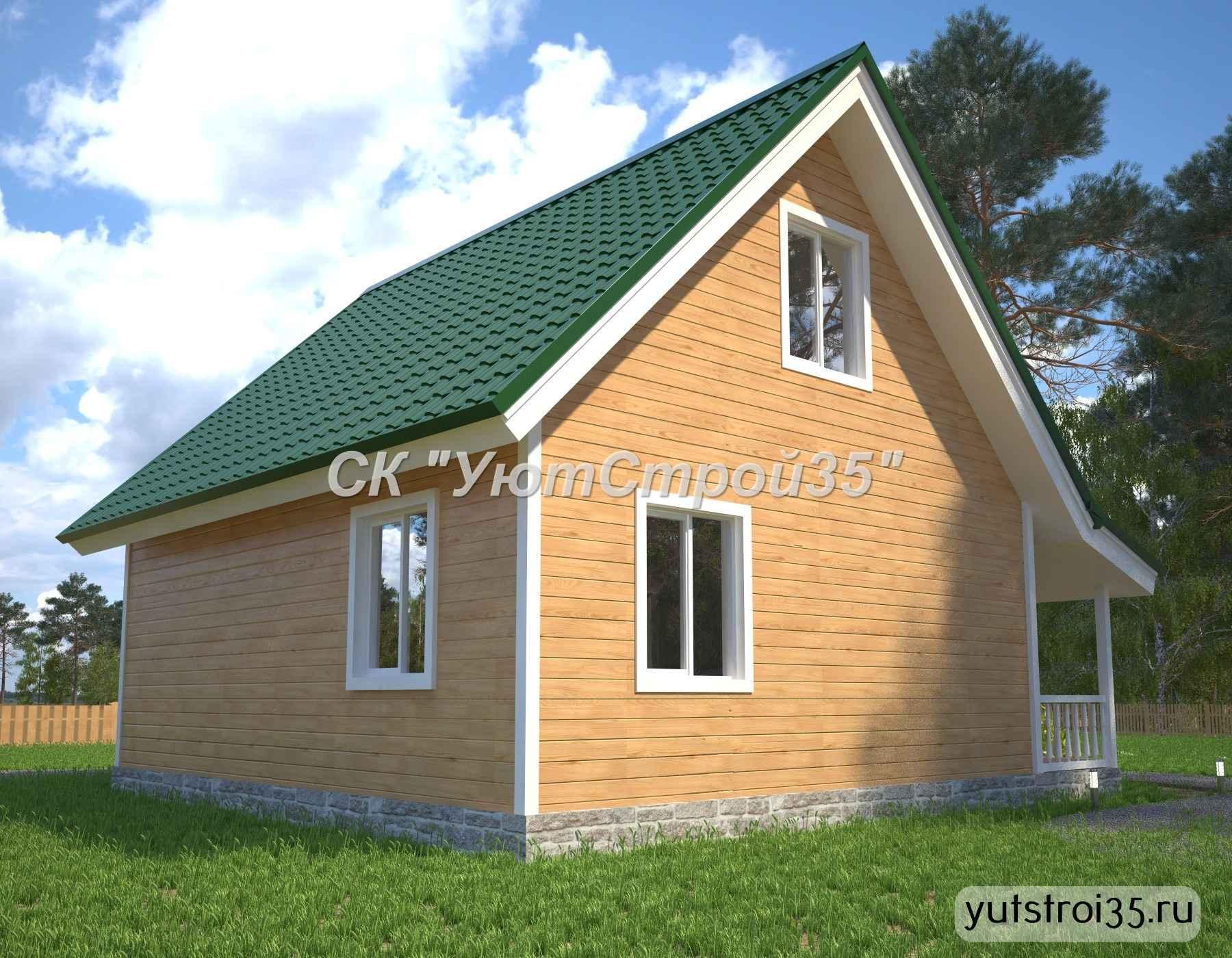 Каркасный дом 8х9 м под ключ К17