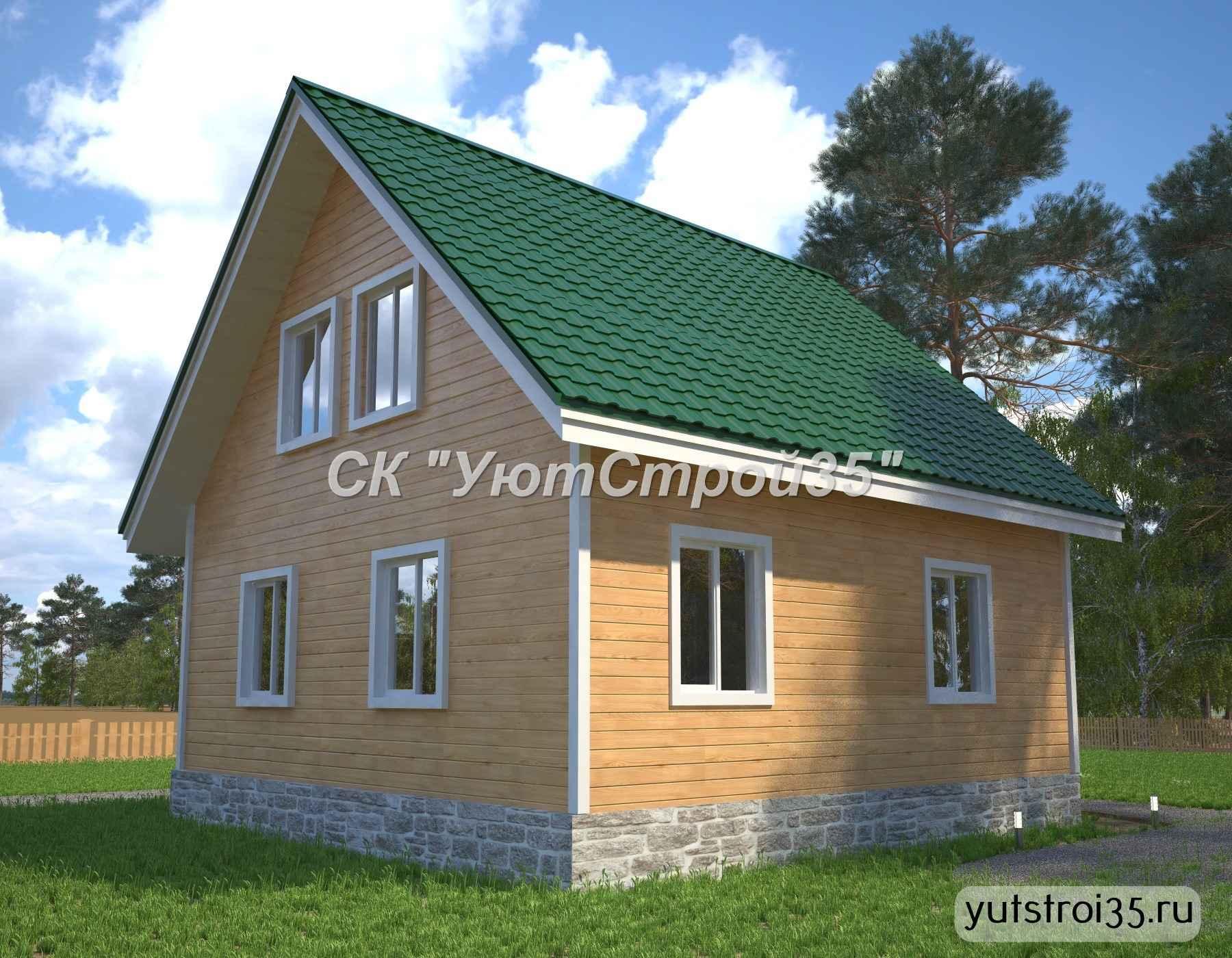 Каркасный дом 8х8 м под ключ К18