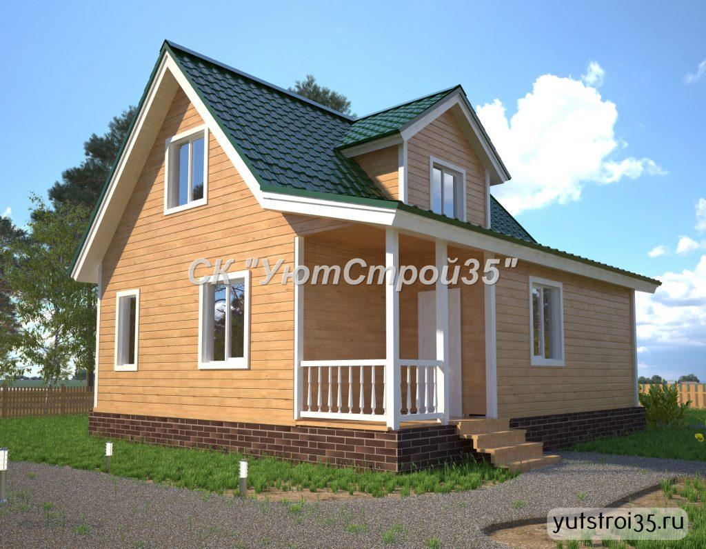Каркасный дом 8х9 м под ключ К19