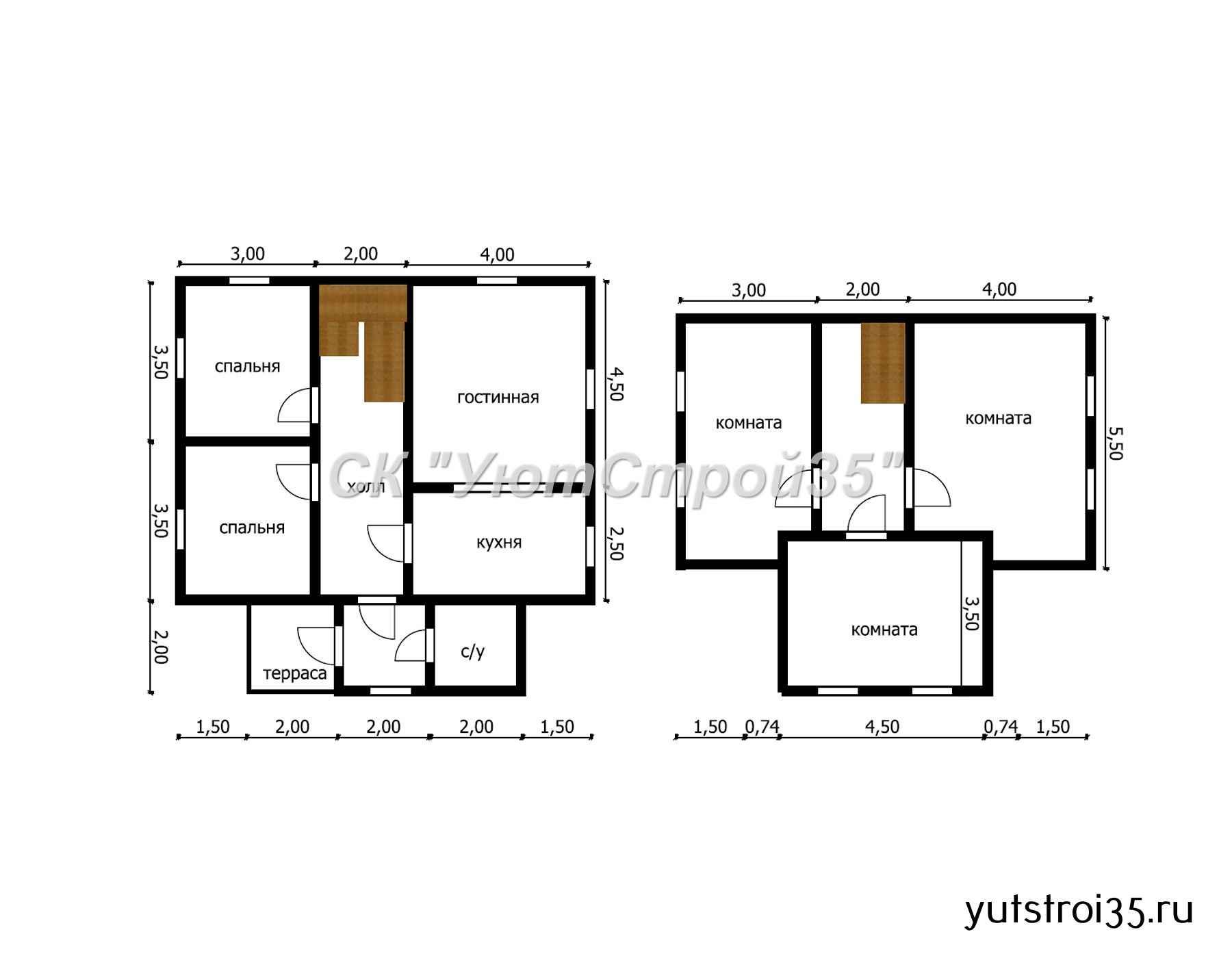Каркасный дом 9х9 м под ключ К20