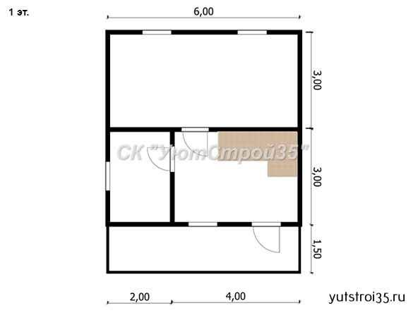 Каркасный дом 6х6 м под ключ К5