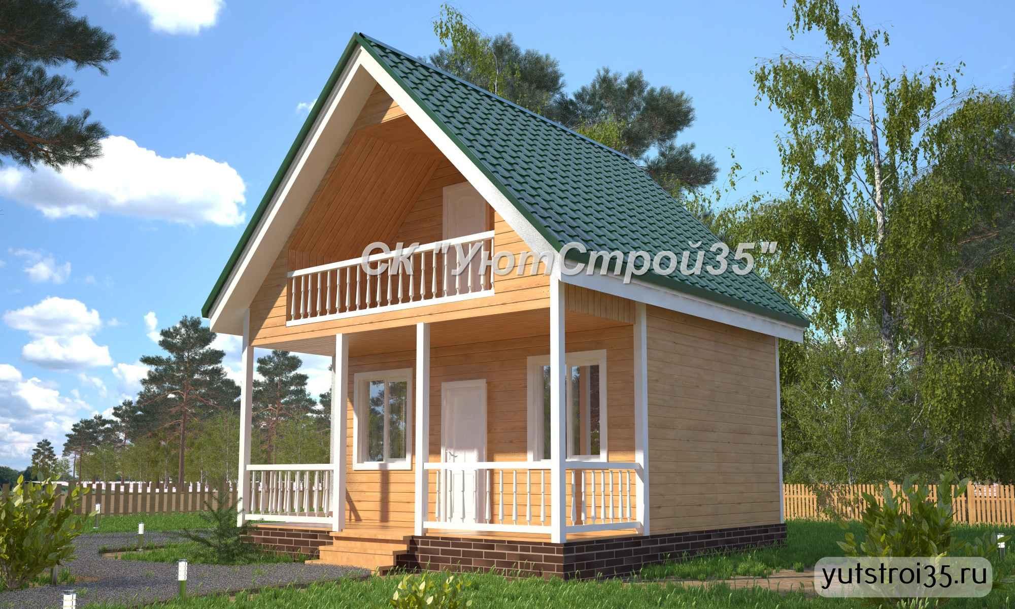 Каркасный дом 6х6 м под ключ К8