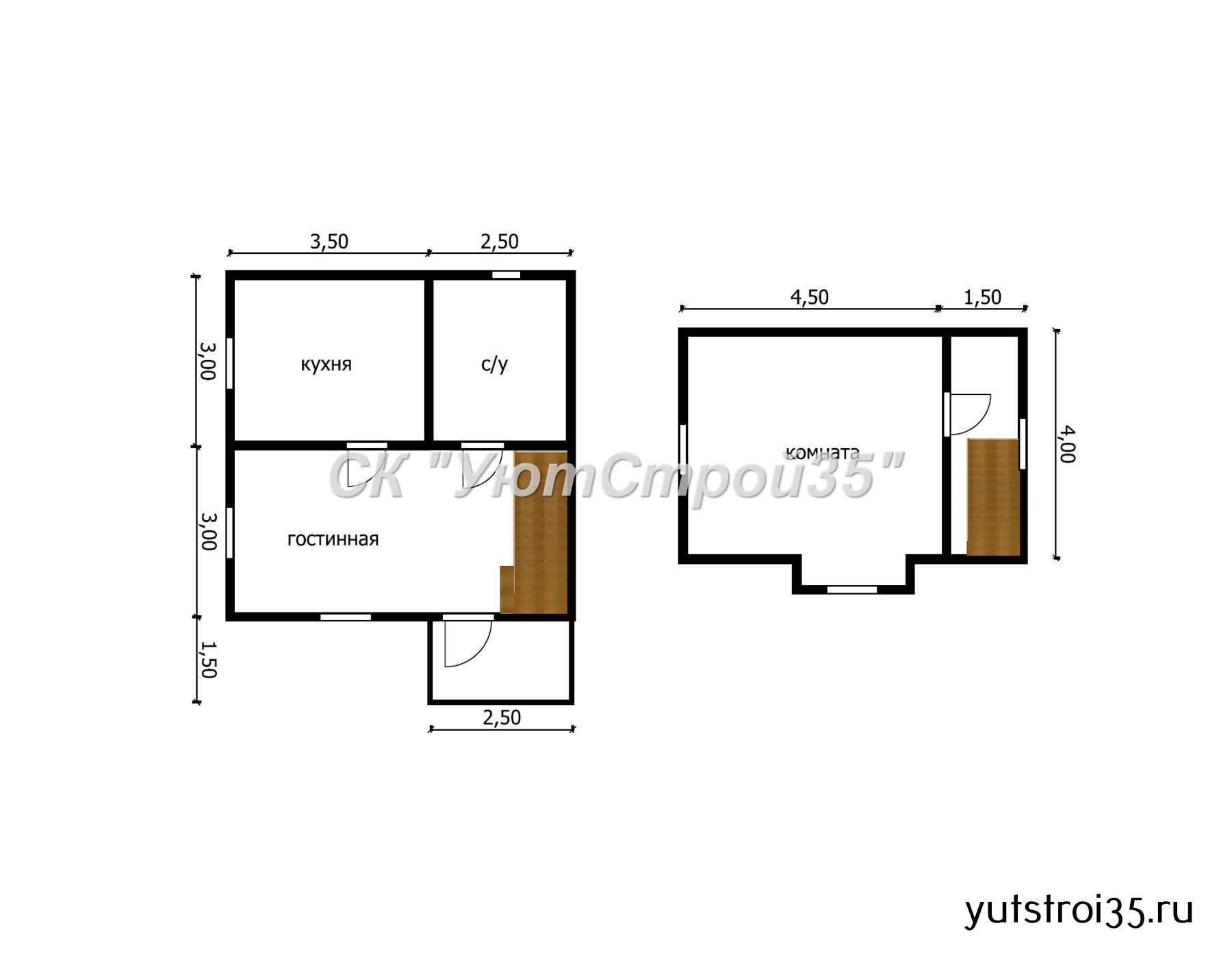 Каркасный дом 6х6 м под ключ К9